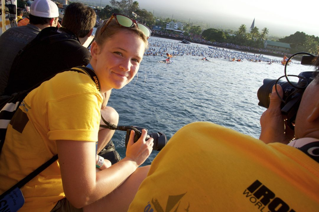 "Ann-Kathrin Ernst vom Triathlon-Blog ""Triathlove"" vor dem Start beim Ironman Hawaii 2015."